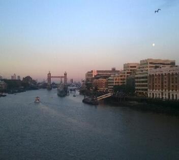 View of Tower Bridge from London Bridge sized